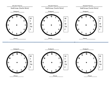 Service Time Visual Schedule