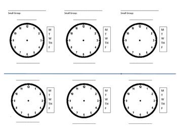 Service Time Visual Schedule