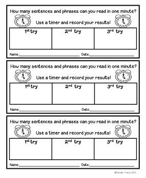Fluency Center Activity- Phrases and Short Sentences