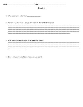 Service Worksheet