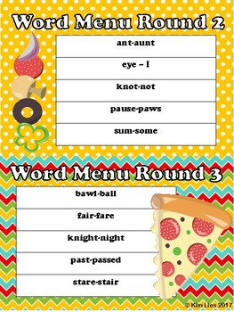 Serving Up Multi-Meaning Words and Homophones
