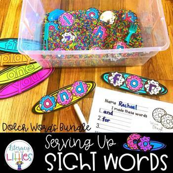 Serving Up Sight Words {Dolch Words Bundle}