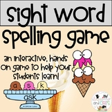 Serving Up Sight Words Spelling game