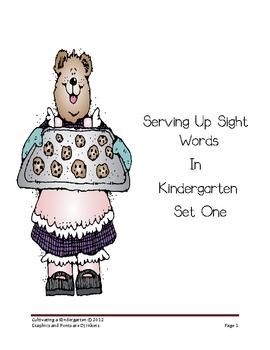 Serving Up Sight Words in Kindergarten Set 1