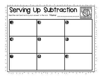 Serving Up Subtraction