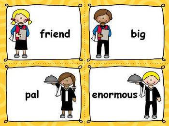 Serving up Synonyms {Common Core Aligned}
