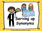 Synonyms: Serving up Synonyms Activity