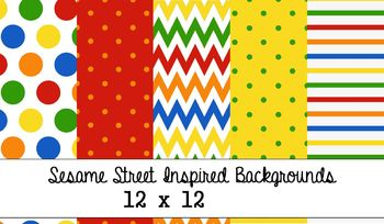 Sesame Street Inspired Backgrounds