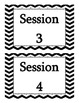 Session Cards {to go along with Daily 5, or center rotations}