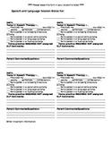 Editable Session Note/Communication Form