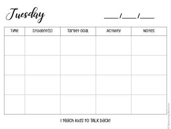 Session Planner SLP Version