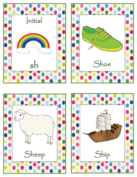 Set 1: Articulation Speech Cards (sh/ch)