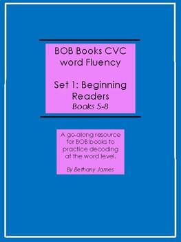 Set 1 BOB Books CVC Word Fluency; books 5-8