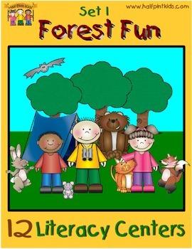 Forest Fun Literacy Centers Half-Pint Readers Set 1