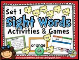 Set 1 Kindergarten Sight Word Activities {SMARTboard}