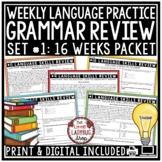 Set #1: Language Weekly Practice: 3rd & 4th Grade Grammar,