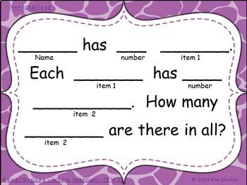 MiniBundle1 Multiplication and Division CGI Sentence Stem Frames sets 1 and 2
