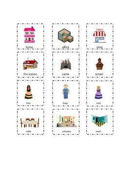 Set 1 Playtime Sight Words Cut and Paste Kindergarten