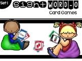 Set 1 Sight Word-O Card Game