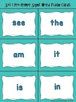 Set 1 Sight Words Worksheets