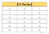 Set 1 satpin Phonics Bingo