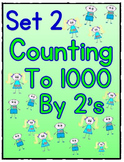 Counting to 1000 By 2 Worksheets - Set 2