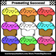 Set 2 Cupcakes Clip Art, Baking Clipart, Cooking Theme Commercial Use SPS