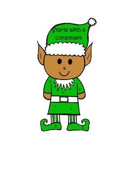Set 2-Elf Ends with a Vowel or Consonant Literacy Center Week 3 & 4
