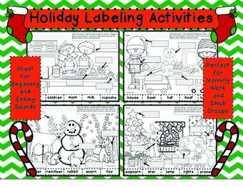 December Labeling Set 2 Beginning-Ending Sounds #novparadise