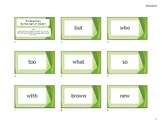 Set #2: High Frequency Words and Rubrics (updated to current texts)