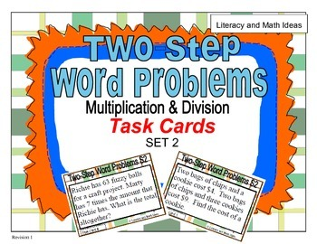 Set 2 (Multiplication and Division) Two-Step Word Problems