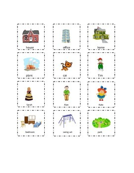 Set 2 Playtime Sight Words Cut and Paste Kindergarten