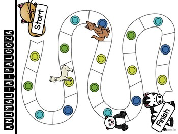 Set 2 Sight Word Board Games: Animal-A-Palooza