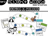 Set 2 Sight Word Board Games: Animal-A-Palooza