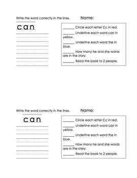 Set 2 Sight Word Readers (student and teacher copies)