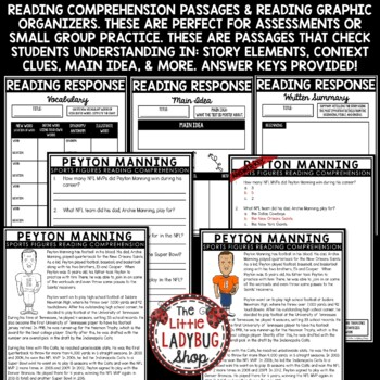 Nonfiction Sports Reading Comprehension Passages & Questions 3rd & 4th Grade