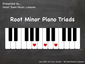 Set 2 - Zip (JPG) = MINOR Chalkboard Piano Root Triads (21x - some enharmonic)