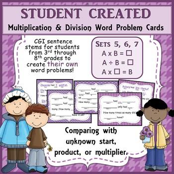 MiniBundle 3 Multiplication and Division CGI Sentence Stem Frames Sets 5 6 and 7