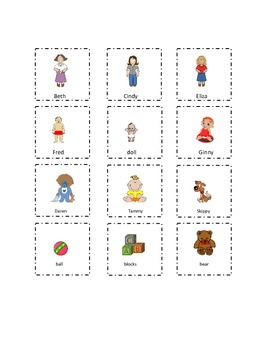 Set 3 Playtime Sight Words Cut and Paste Kindergarten