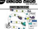 Set 3 Sight Word Board Games: Ocean-Palooza
