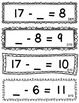 Set 4 - Missing Minuend and Subtrahend Cards (Subtraction Facts 11 - 20)