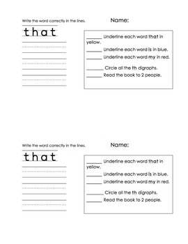 Set 4 Sight Word Readers (student and teacher copies)