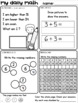 Set 5 JANUARY Daily Math Practice and Review Worksheets for First Grade