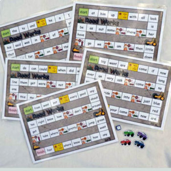 Set 5 ROADWORKS Games to teach the first 100 Dolch Sight Words