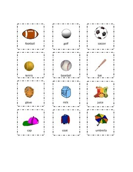 Set 6 Playtime Sight Words Cut and Paste Kindergarten