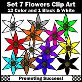 Set 7 Flower Clipart for Spring Bulletin Boards Newsletter SPS