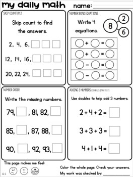 Set 8 April May Daily Math Practice And Review Worksheets For