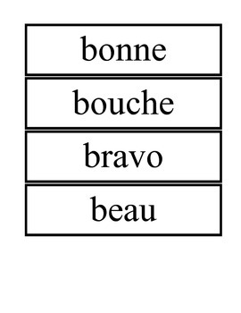 Set B -French High Frequency Wrds Flashcards / Ensemble B -Mots haute frequences