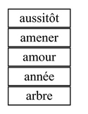 Set C -French High Frequency Wrds Flashcards / Ensemble C