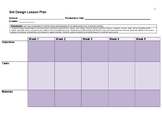 Set Design 8 Week Lesson Plan Template